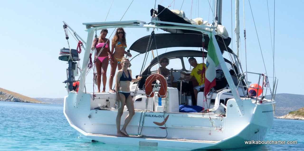 vacanza in barca vela nuotata