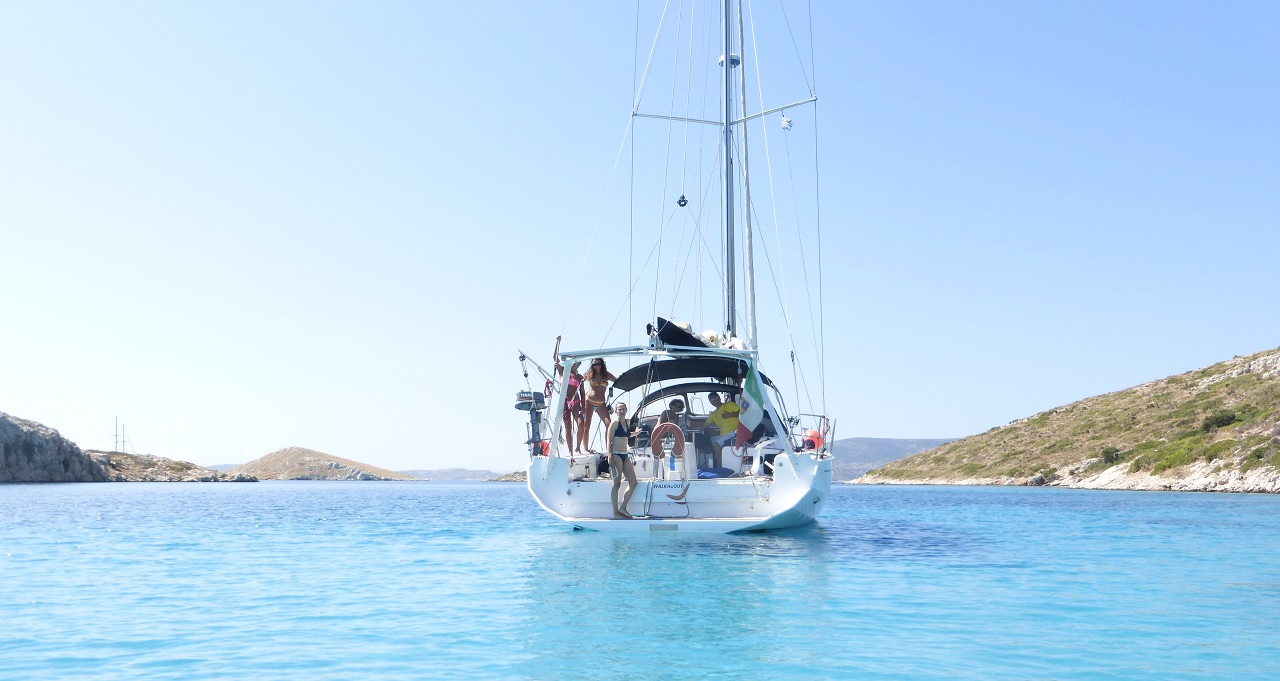 charter in barca vela a Lipsi Grecia