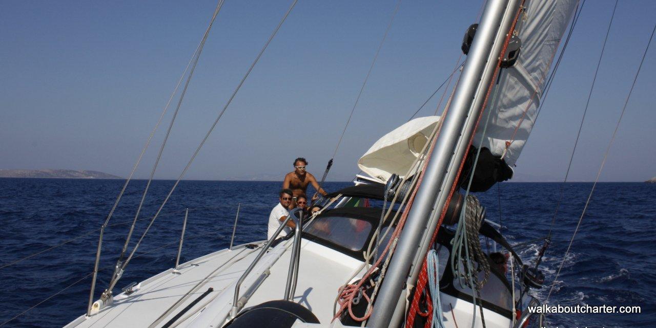 Vacanza in barca a vela navigazione bolina